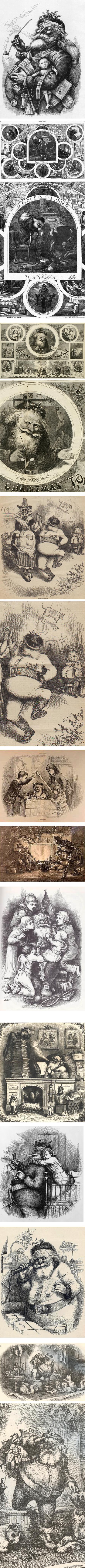 Thomas Nast's Santa Claus illustrations
