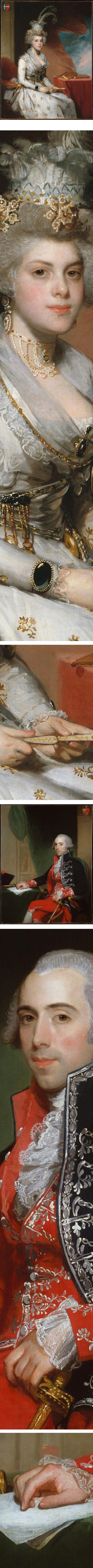 Portraits of Matilda Stoughton de Jaudenes, and Josef de Jaudenes y Nebot, by Gilbert Stuart