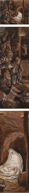The Adoration of the Shepherds, James Tissot, gouache