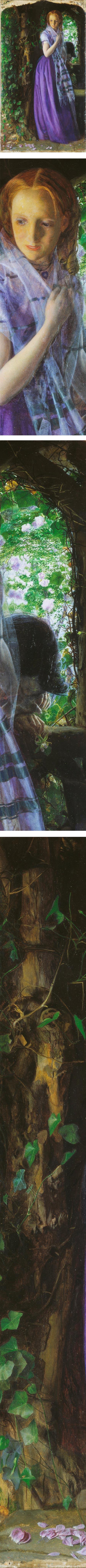 Aprii Love, Arthur Hughes, Pre-Raphaelite painter