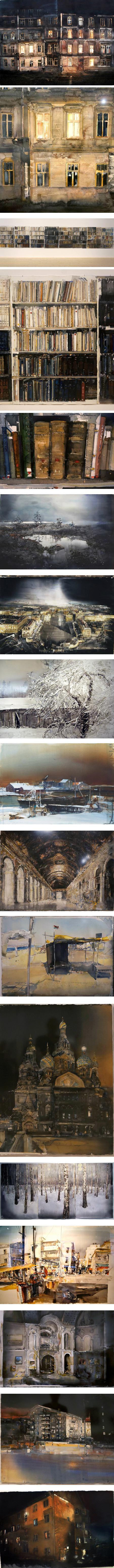 Lars Lerin, watercolors