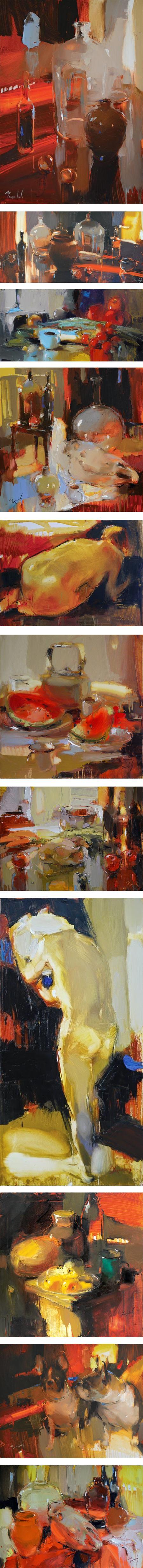 Iryna Yermolova, still life and figures