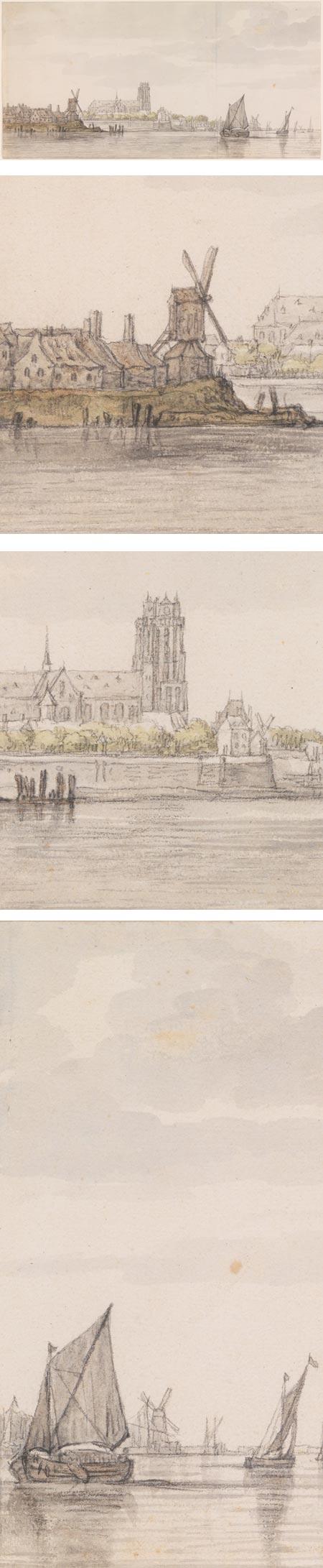 View of the Groote Kerk in Dordrecht from the River Maas, Aelbert Cuyp