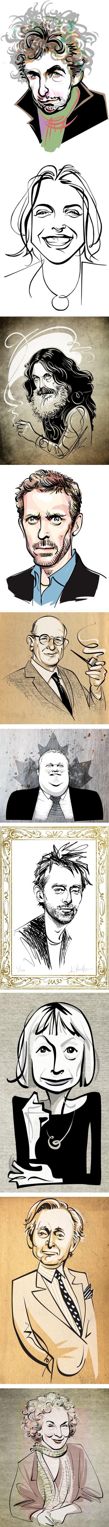 Kathryn Rathke. illustration, digital ink, portraits, caricature