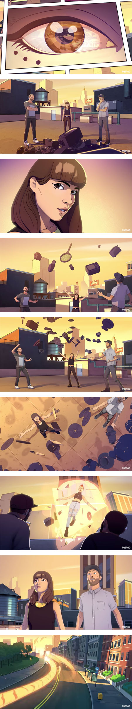 Bury It Chvrches and Haley Williams, animated by Mighty Nice, Jamie McKelvie