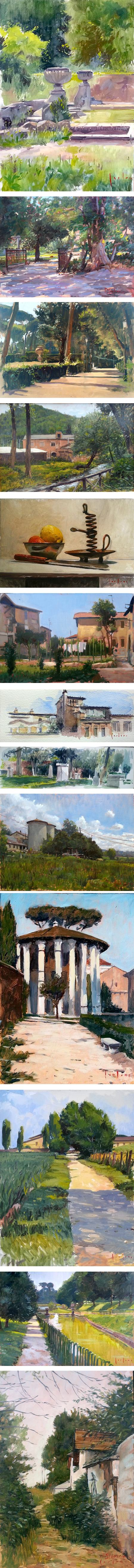 Marco Carloni, landscape paintings