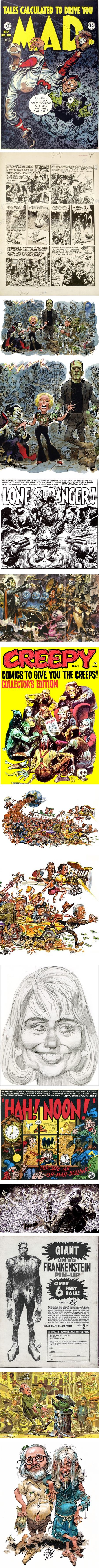 Jack Davis, cartoonist, caricaturist, comics artist illustrator