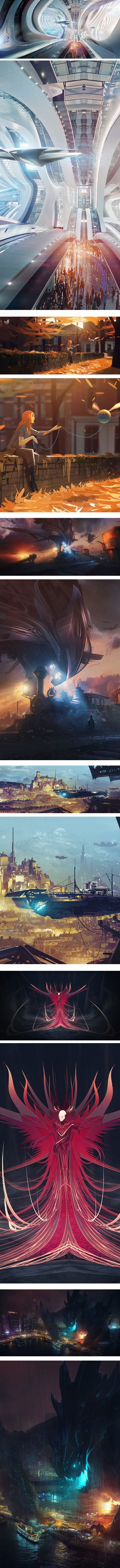 Bastien Grivet, illustrationa and concept art