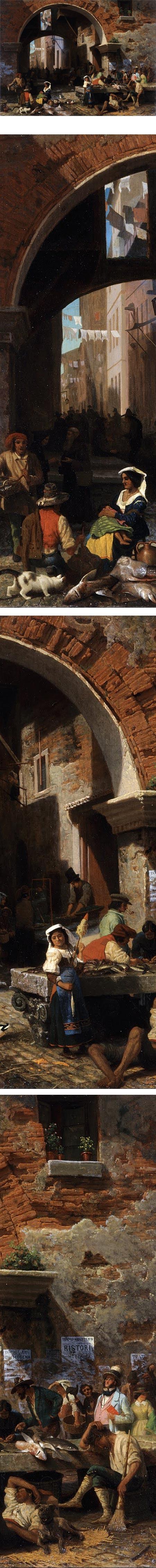 Roman Fish Market. Arch of Octavius, Albert Bierstadt