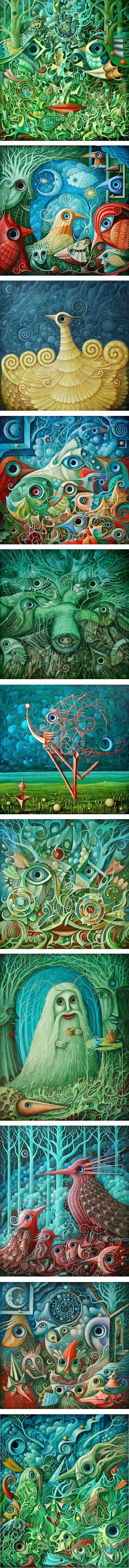 Leszek Kostuj, surreal paintings