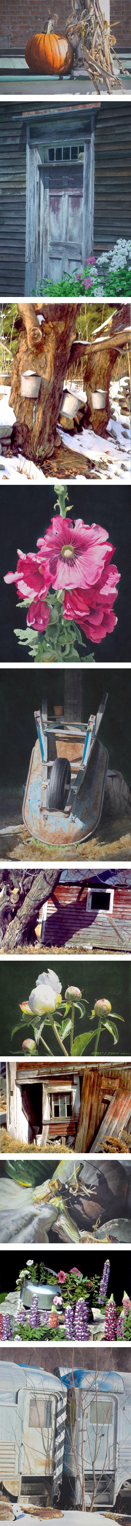 Robert J. O'brien, watercolor