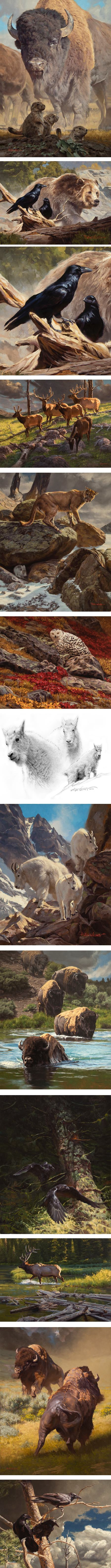 Dustin Van Wechel, wildlife art