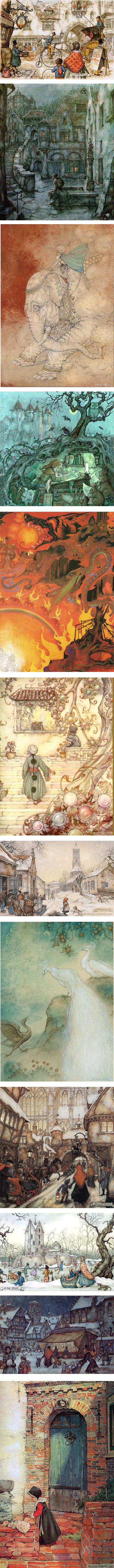 Anton Pieck illustrations