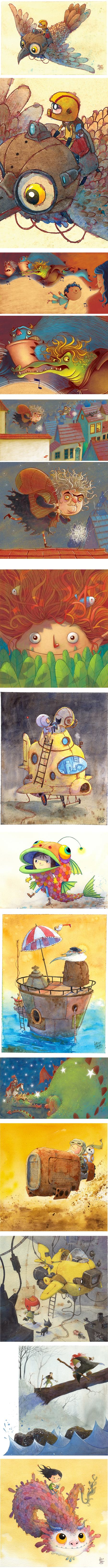 Adilson Farias, children's book illustration