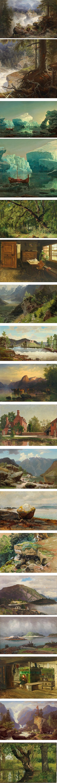 Georg Eduard Otto Saal, 19th century German landscape painter