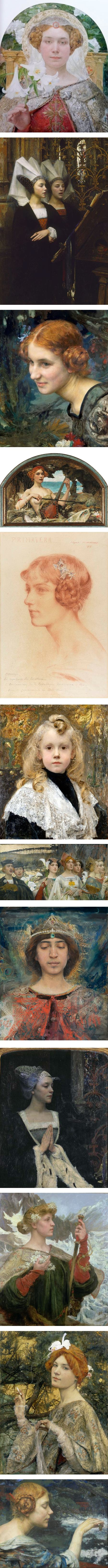 Edgar Maxence, French Symbolist painter
