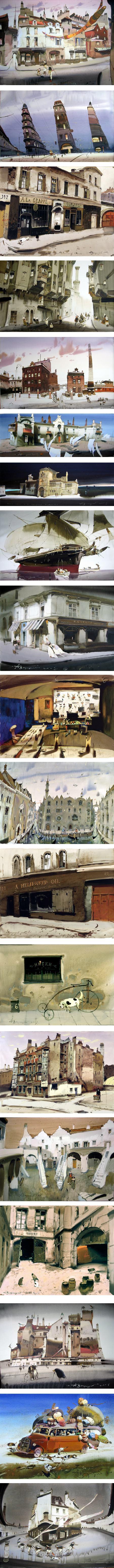 Alexander Votsmush (Shumtov), watercolors