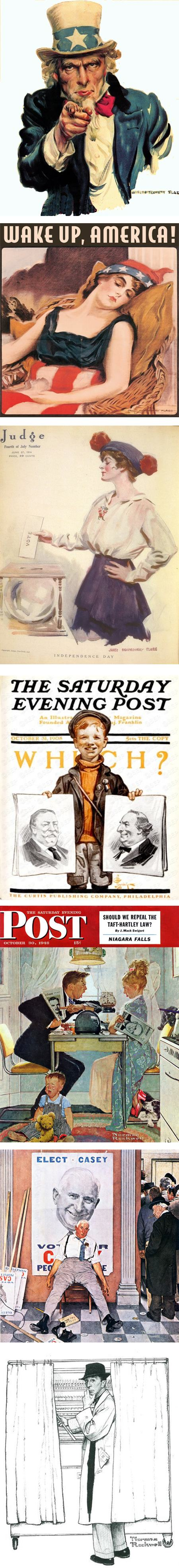 Voting, James Montgomery Flagg, J.C. Leyendecker, Norman Rockwell