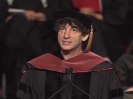 Neil Gaiman addressing the graduating class at the University of the Arts in Philadelphia in 2012