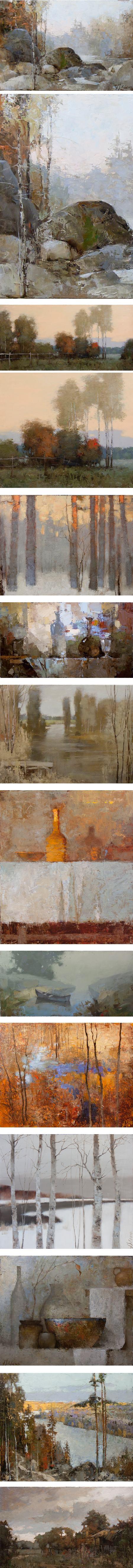 Alexander Zavarin, landscape, still life, figutative paintings
