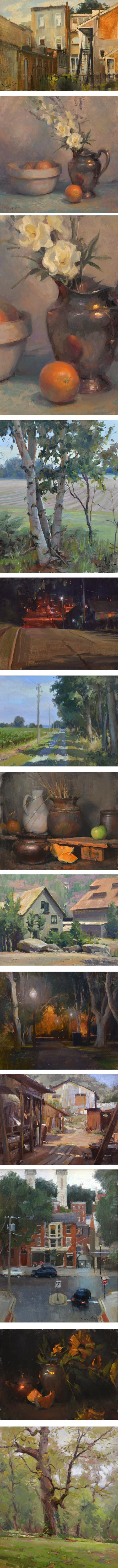 John P. Lasater, landscape and still life painting