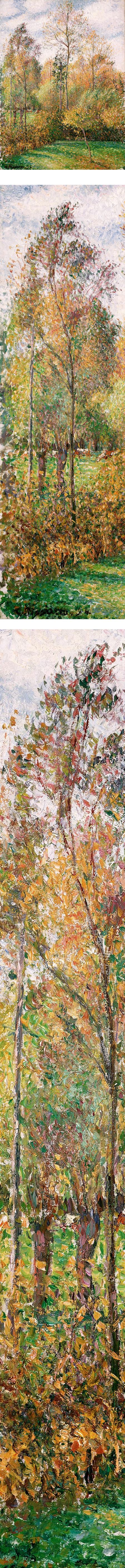 Autumn, Poplars, &Eaute;ragny, Camille Pissarro
