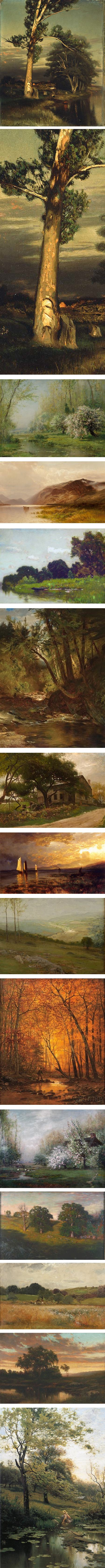 Arthur Parton, Hudson River School painter, landscape paintings
