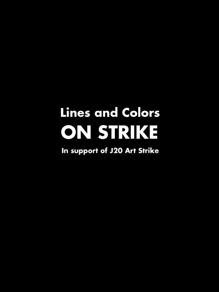 Lines and Colors is on strike today, January 20, 2017