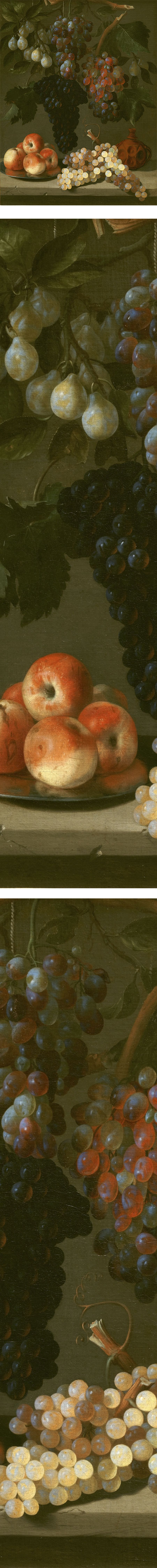 Still Life with Grapes, Apples and Plums, Juan de Espinosa