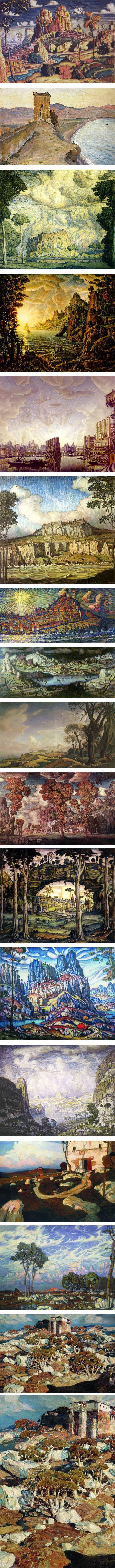 Konstantin Bogaevsky, Symbolist landscapes