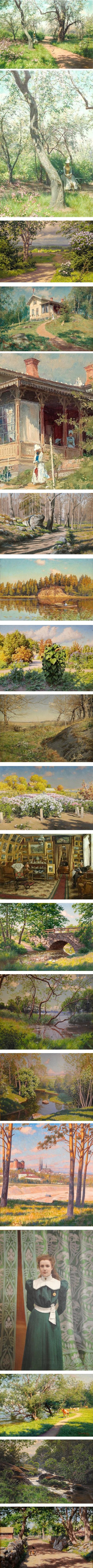 Johan Krouthen, Swedish painter, landscapes
