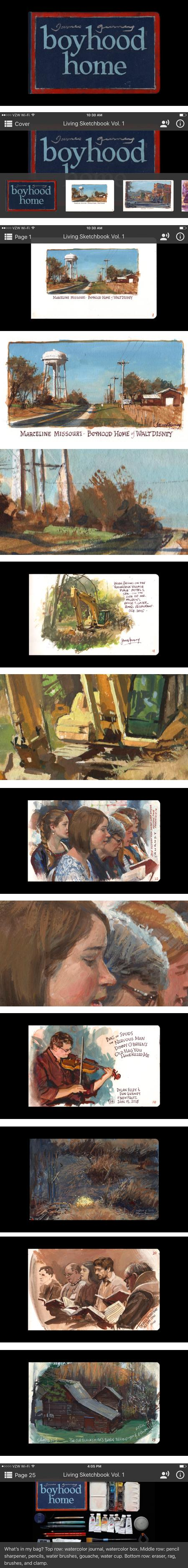James Gurney's Living Sketchbook app