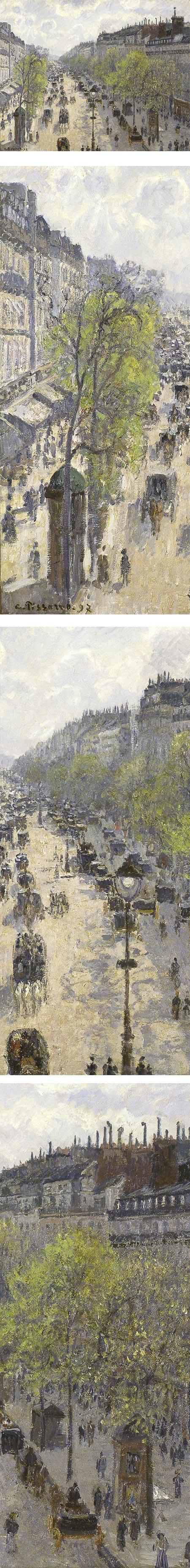 Boulevard Montmartre, Spring; Camille Pissarro