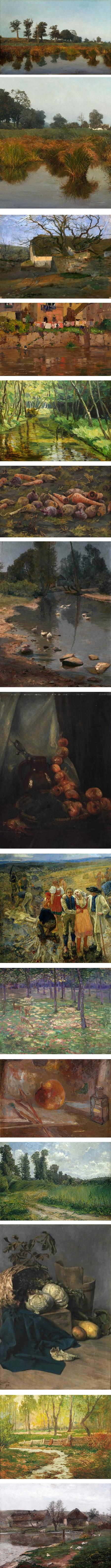 Otakar Lebeda, landscape, still life and figurative paintings