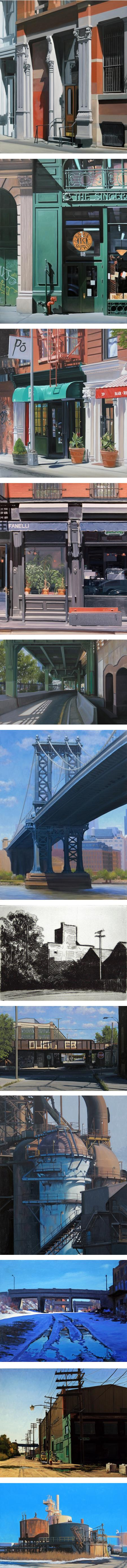 Stephen Magsig, cityscape and industrial landscape paintings, NYC and Detriot