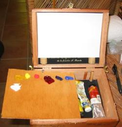 Plein Air Muse, cigar box pochade box