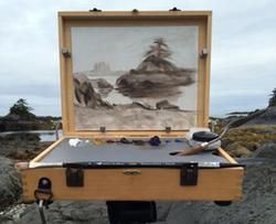 Linda  Schroeter, cigar box pochade box