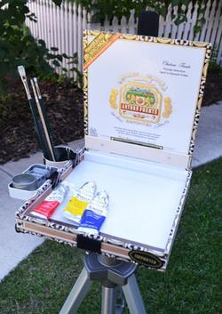 Marla Goodman, cigar box pochade box