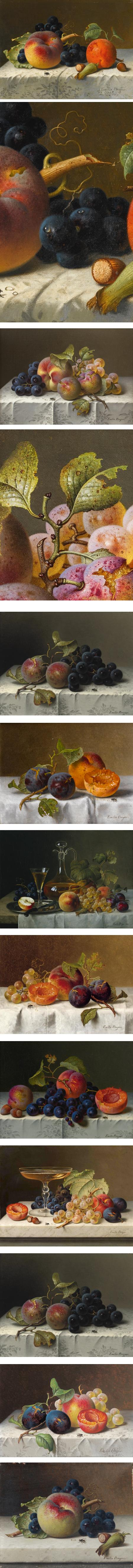 Emelie Preyer, still life of fruit