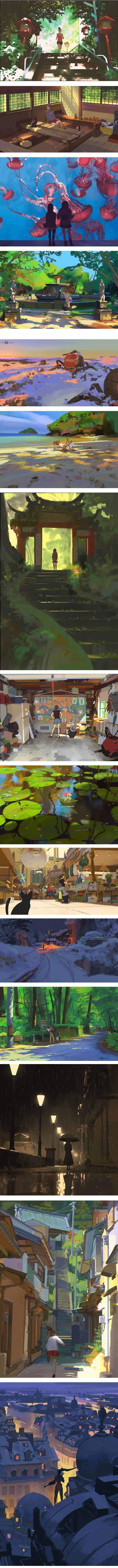 Atey Ghailan, concept art and illustration, Path of Miranda