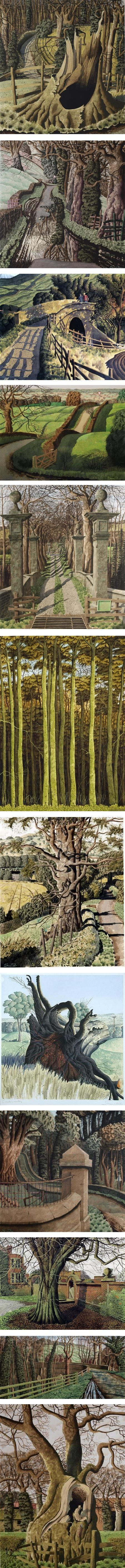 Simon Palmer, English landscapes in watercolor, gouache and ink