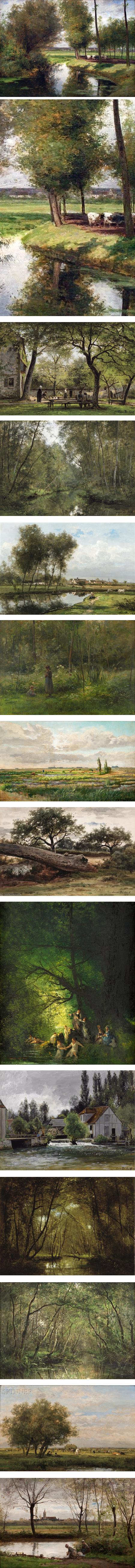 Cesar de Cock, Belgian landscape painter