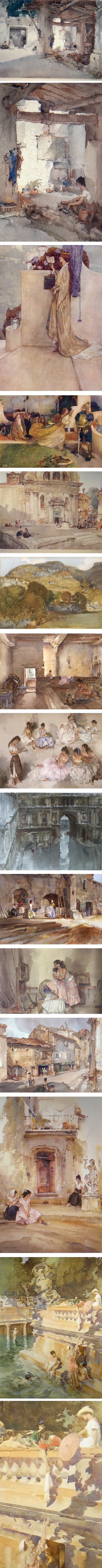 William Russell Flint, watercolors and illustrations