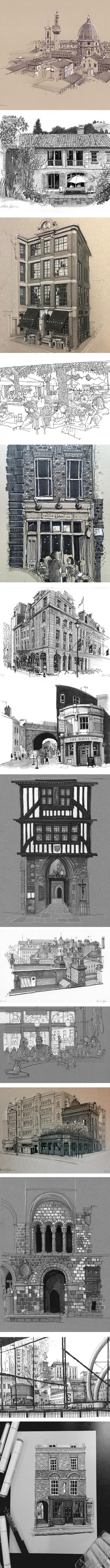 Phil Dean, urban sketching