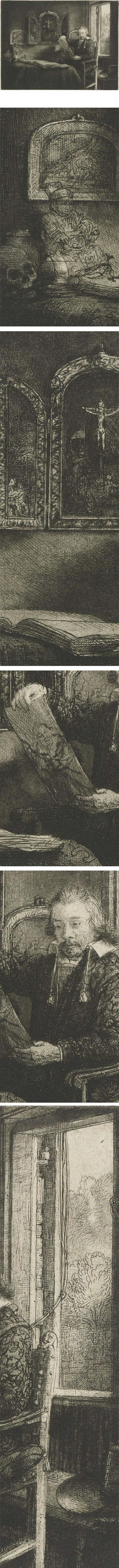 Portrait of Abraham Francen, Apothecary, Rembrandt Harmenz. van Rijn, etching and drypoint