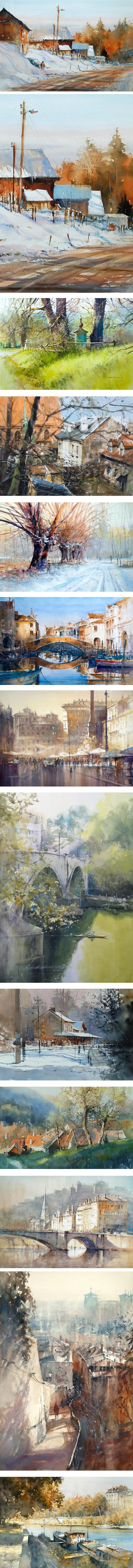Michal Jasiewicz, watercolors