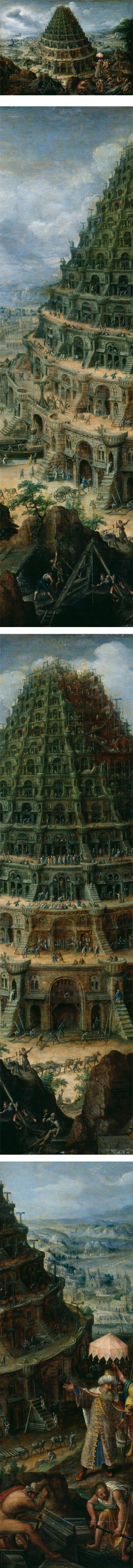 The Tower of Babel, Marten van Valckenborch the Elder