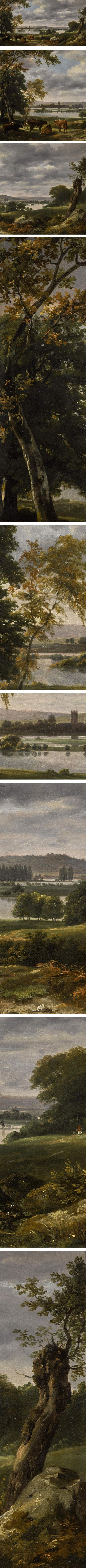 Dedham Vale With The River Stour In Flood From The Grounds Of Old Hall, East Bergholt, John Constable, rediscovered Constable landscape