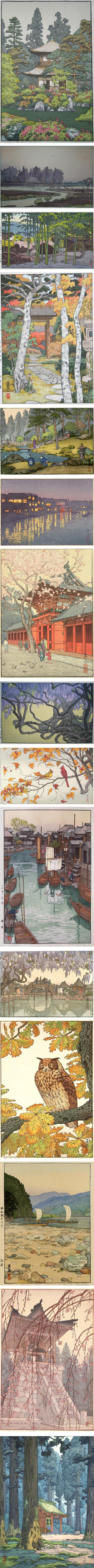Toshi Yoshida, Japanese woodblock prints in the Sosaku-hanga tradition