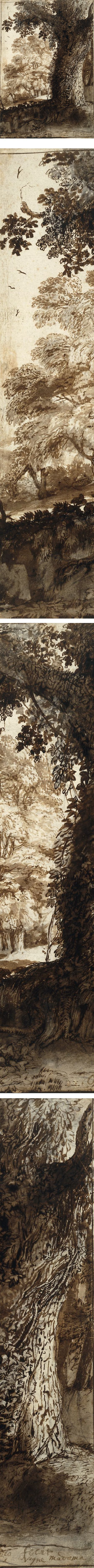 Study of an Oak Tree, Claude Lorrai